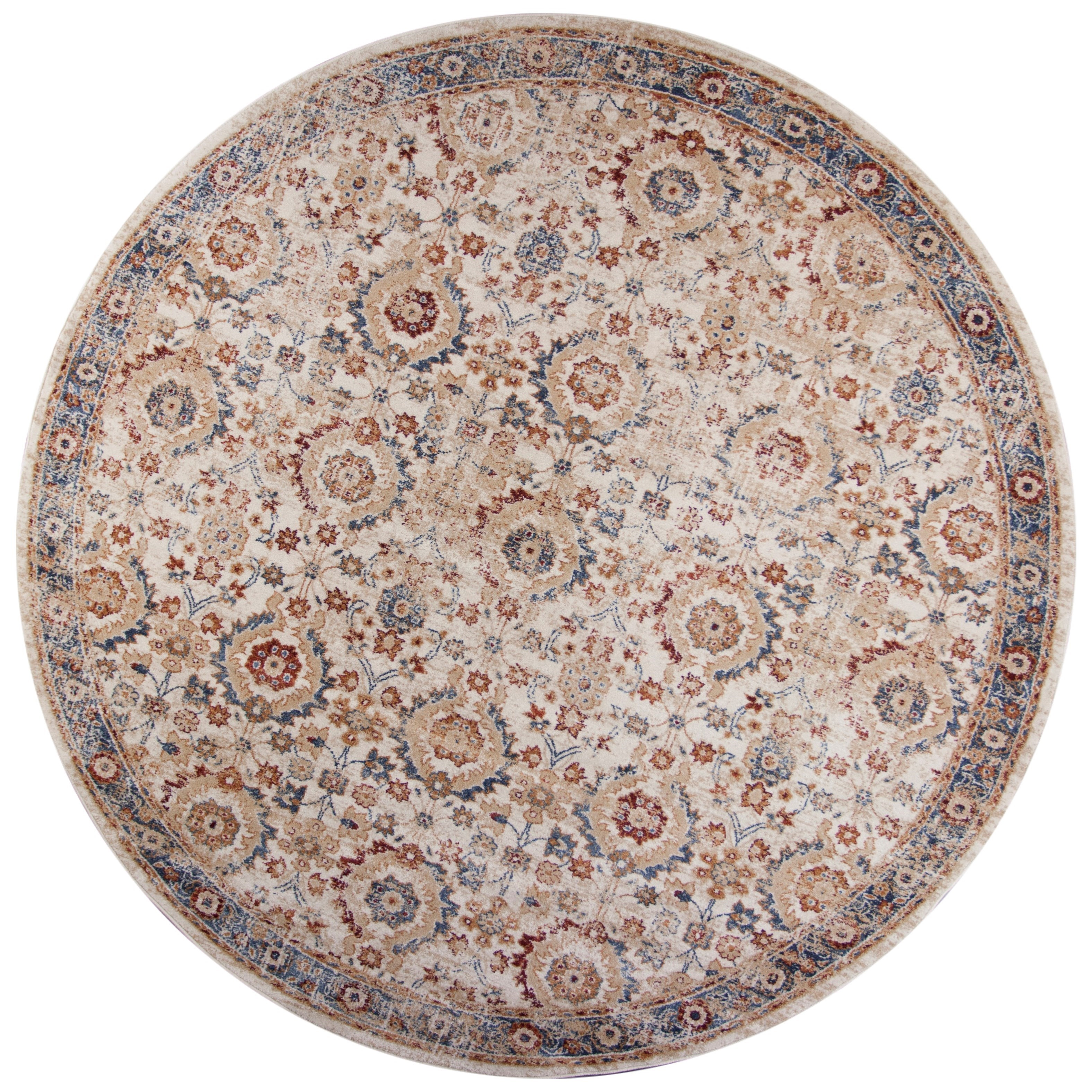 """Seville 7'7"""" Round Rug by Kas at Zak's Home"""