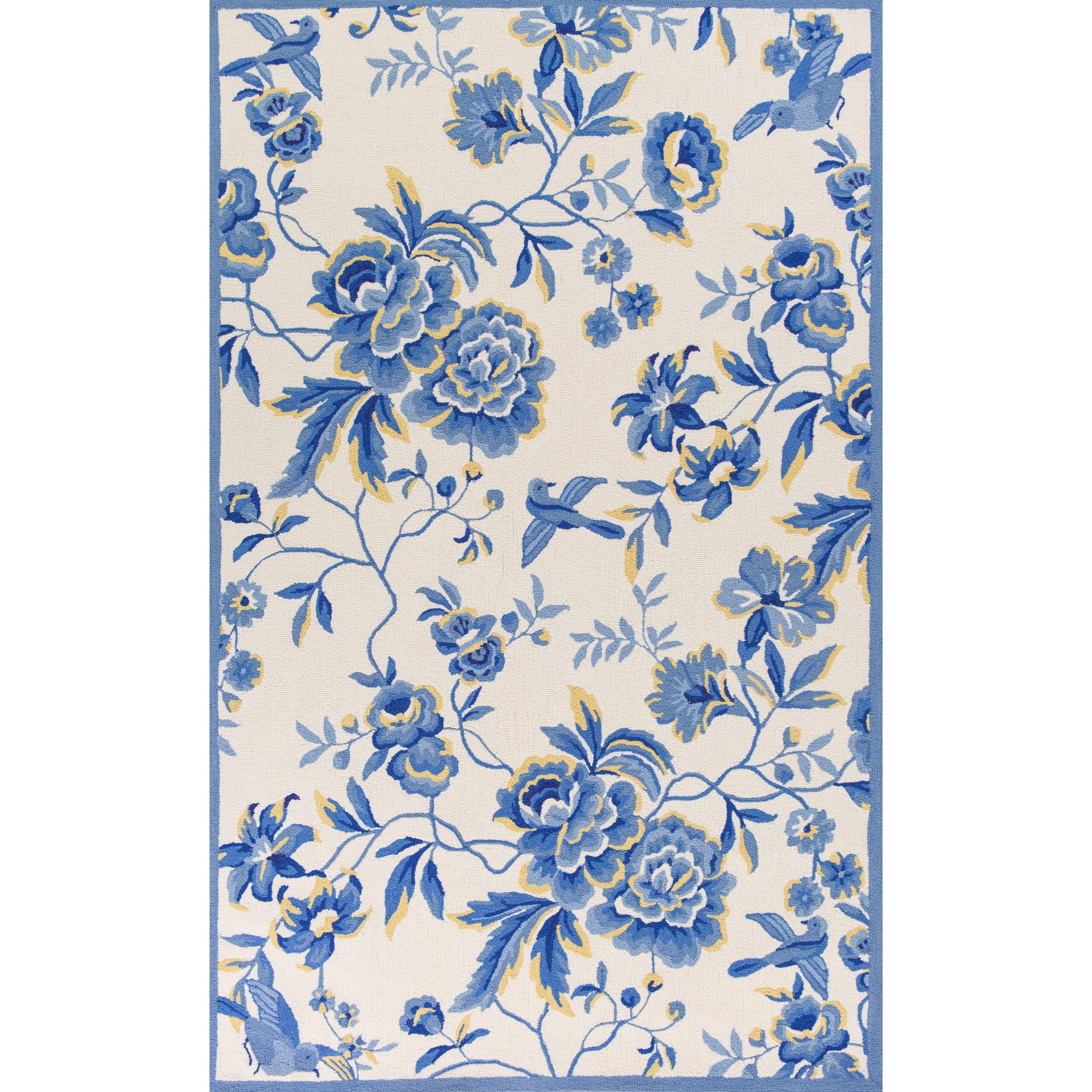 """Sonesta 2' X 7'6"""" Ivory/Blue Provence Area Rug by Kas at Zak's Home"""