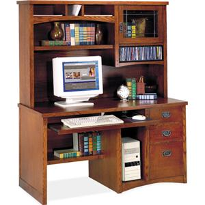 kathy ireland Home by Martin California Bungalow Deluxe Computer Desk and Hutch