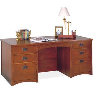 kathy ireland Home by Martin California Bungalow Double Pedestal Executive Desk