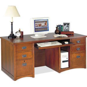 kathy ireland Home by Martin California Bungalow Deluxe Double Pedestal Computer Desk