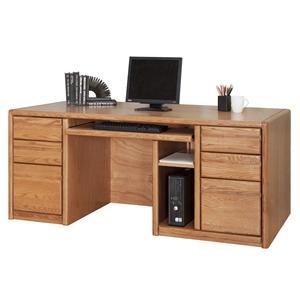 kathy ireland Home by Martin Contemporary  Double Pedestal Computer Desk