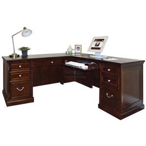 kathy ireland Home by Martin Fulton KIH Large RHF Keyboard L Shape Desk