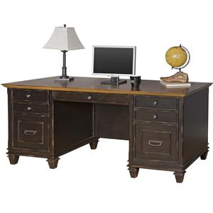 kathy ireland Home by Martin Hartford Double Pedestal Desk