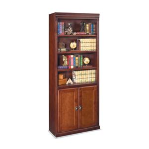 kathy ireland Home by Martin Huntington Club Bookcase with Lower Doors