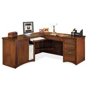 kathy ireland Home by Martin Mission Pasadena L-Shaped Executive Desk