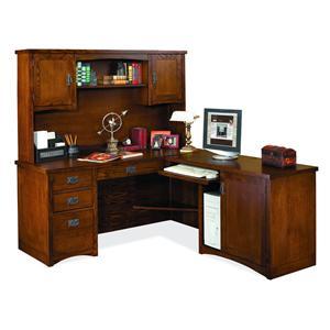 kathy ireland Home by Martin Mission Pasadena L-Shaped Desk & Hutch