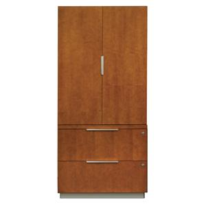 kathy ireland Home by Martin Monterey Lateral File and Wardrobe Combo