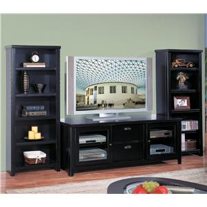 kathy ireland Home by Martin Tribeca Loft TV Stand with Bookcase Set