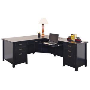 kathy ireland Home by Martin Tribeca Loft L-Shaped Right Hand Facing Executive Desk