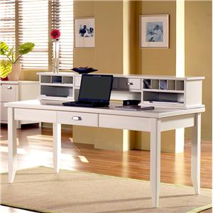 kathy ireland Home by Martin Tribeca Loft Writing Table with Hutch