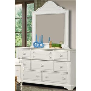 Vaughan Furniture Cottage Grove Dresser and Mirror Combo