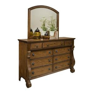 Vaughan Furniture Georgetown 9 Drawer Dresser and Mirror Set