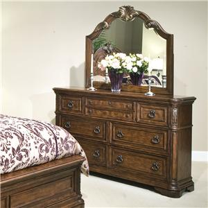Vaughan Furniture Romantic Dreams Dresser and Mirror