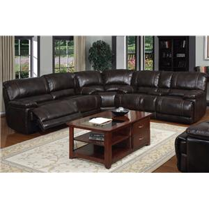 Sectional Sofa w/ Pillow Arms