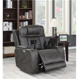 Power Recliner with Power Headrest & Storage