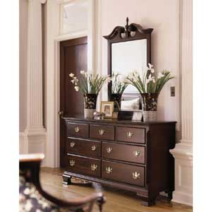 Kincaid Furniture Carriage House Double Dresser & Mirror