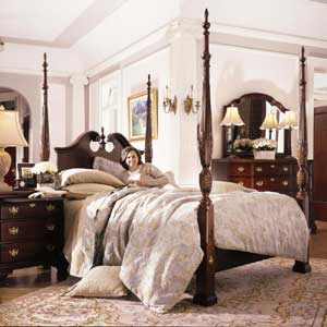 Kincaid Furniture Carriage House King Broken Pediment Rice Bed