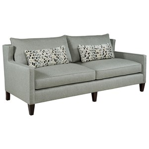Contemporary Sofa with Thin Track Arms