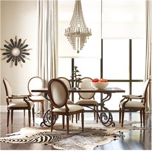 "Kincaid Furniture Artisan's Shoppe Dining 7 pc 72"" Table w/ Oval-Backed Chairs"