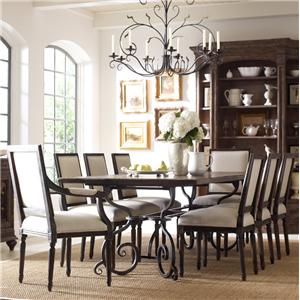 "Kincaid Furniture Artisan's Shoppe Dining 9 Pc 94"" Table w/ French Chair Set"
