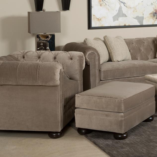Camden  Chair and Ottoman by Kincaid Furniture at Johnny Janosik