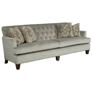 Contemporary Grande Sofa with Tufted Back