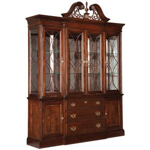 Kincaid Furniture Carriage House Breakfront China Cabinet