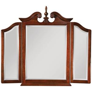 Kincaid Furniture Carriage House Tri-View Broken Pediment Mirror