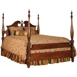 Kincaid Furniture Carriage House Queen Broken Pediment Poster Bed
