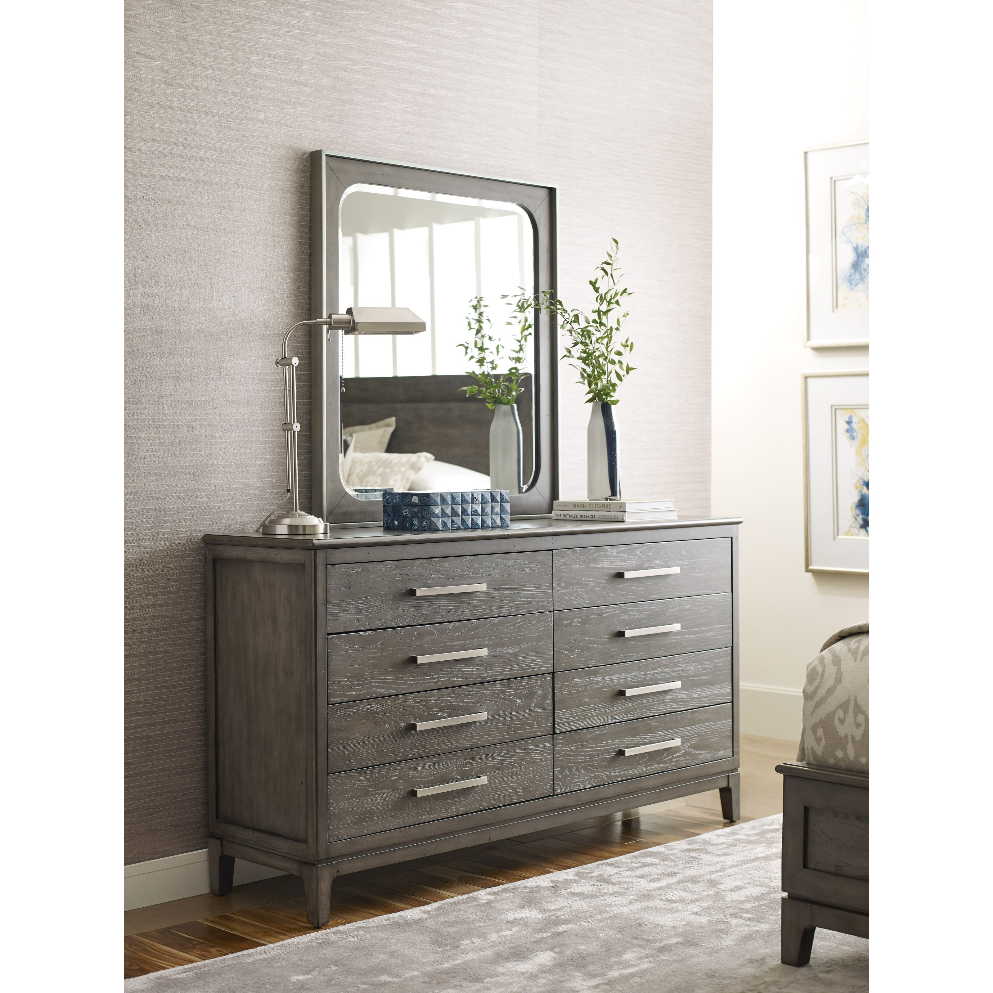 Cascade Sellers Drawer Dresser and Mirror Set by Kincaid Furniture at Johnny Janosik