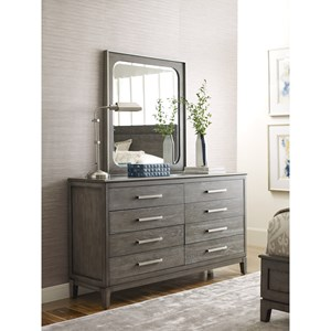 Sellers Solid Wood 8-Drawer Dresser and Mirror Set