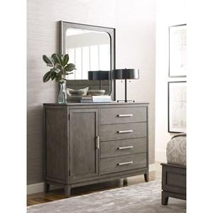 Garrison Door Bureau and Mirror Set