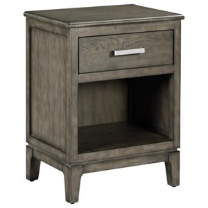 Meghan Solid Wood Nightstand with Outlet