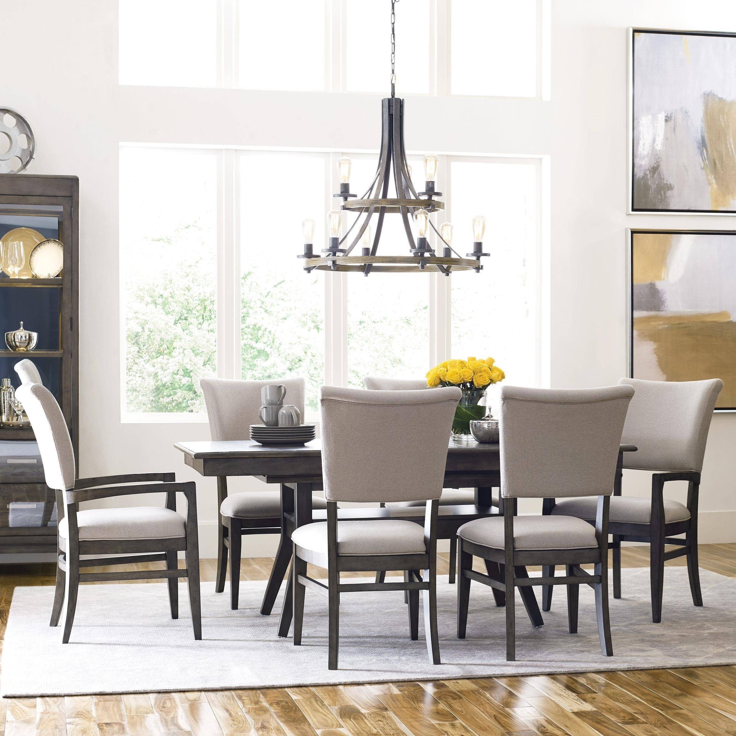 Cascade Dining Table Set with 6 Chairs by Kincaid Furniture at Northeast Factory Direct