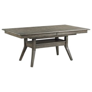 "Dillon Solid Wood Tresle Dining Table with 24"" Leaf"