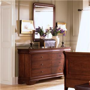 Kincaid Furniture Chateau Royale Drawer Dresser & Vertical Mirror