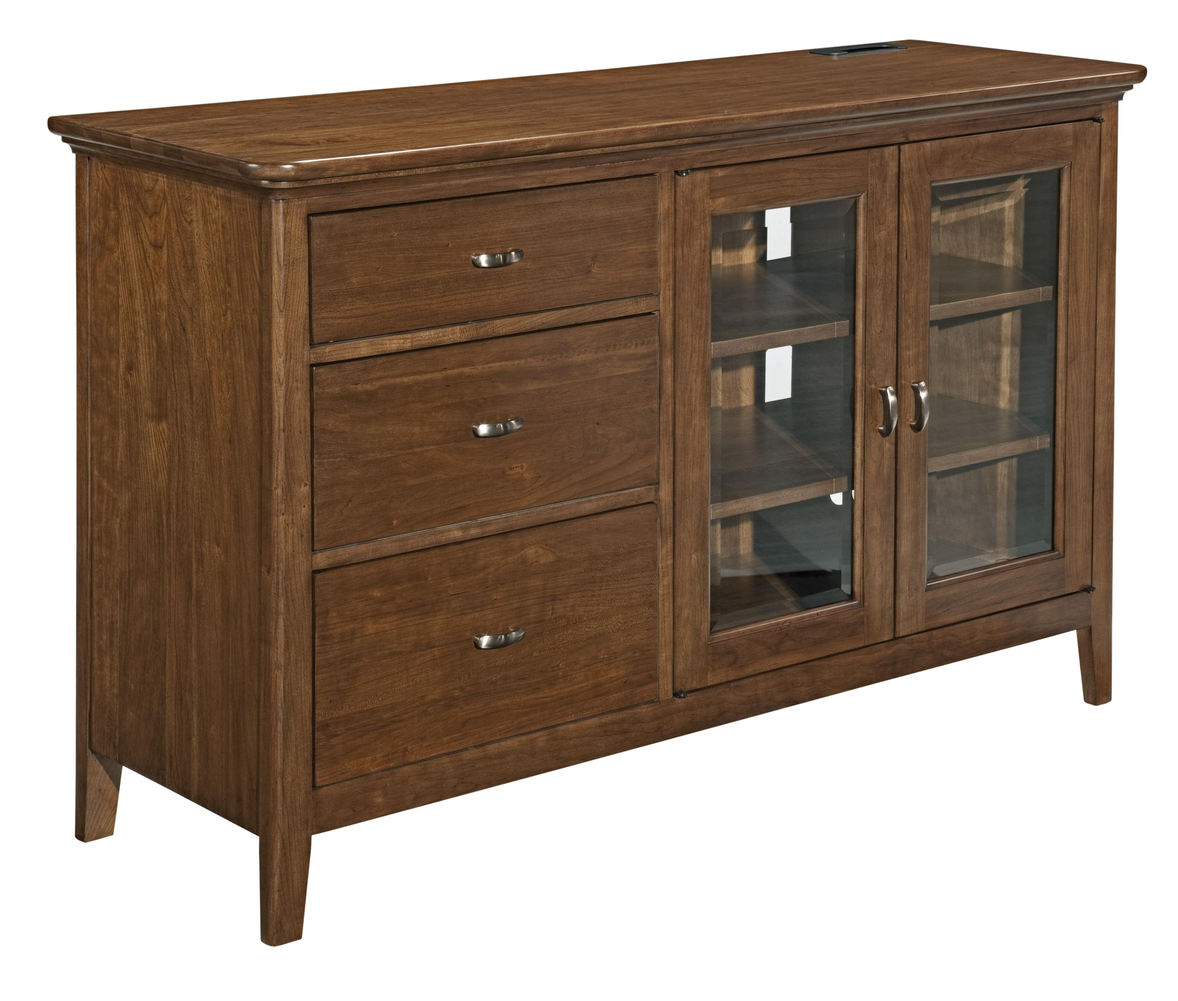 Cherry Park Entertainment Console by Kincaid Furniture at Johnny Janosik