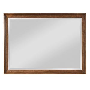 Cherry Wood Framed Landscape Mirror