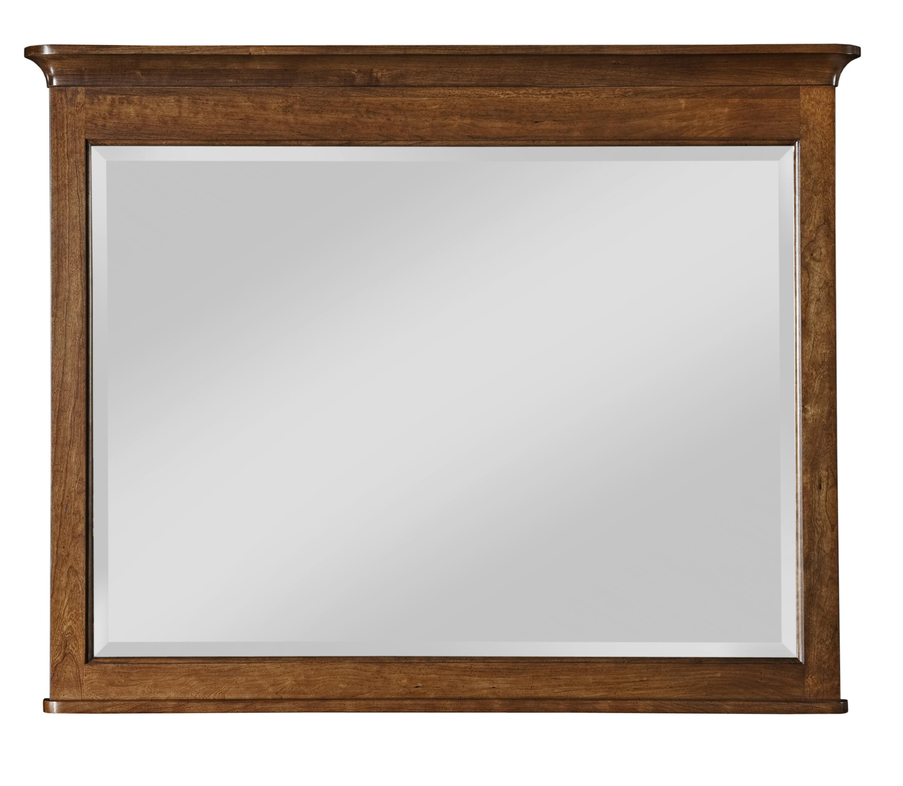 Cherry Park Landscape Mirror by Kincaid Furniture at Johnny Janosik