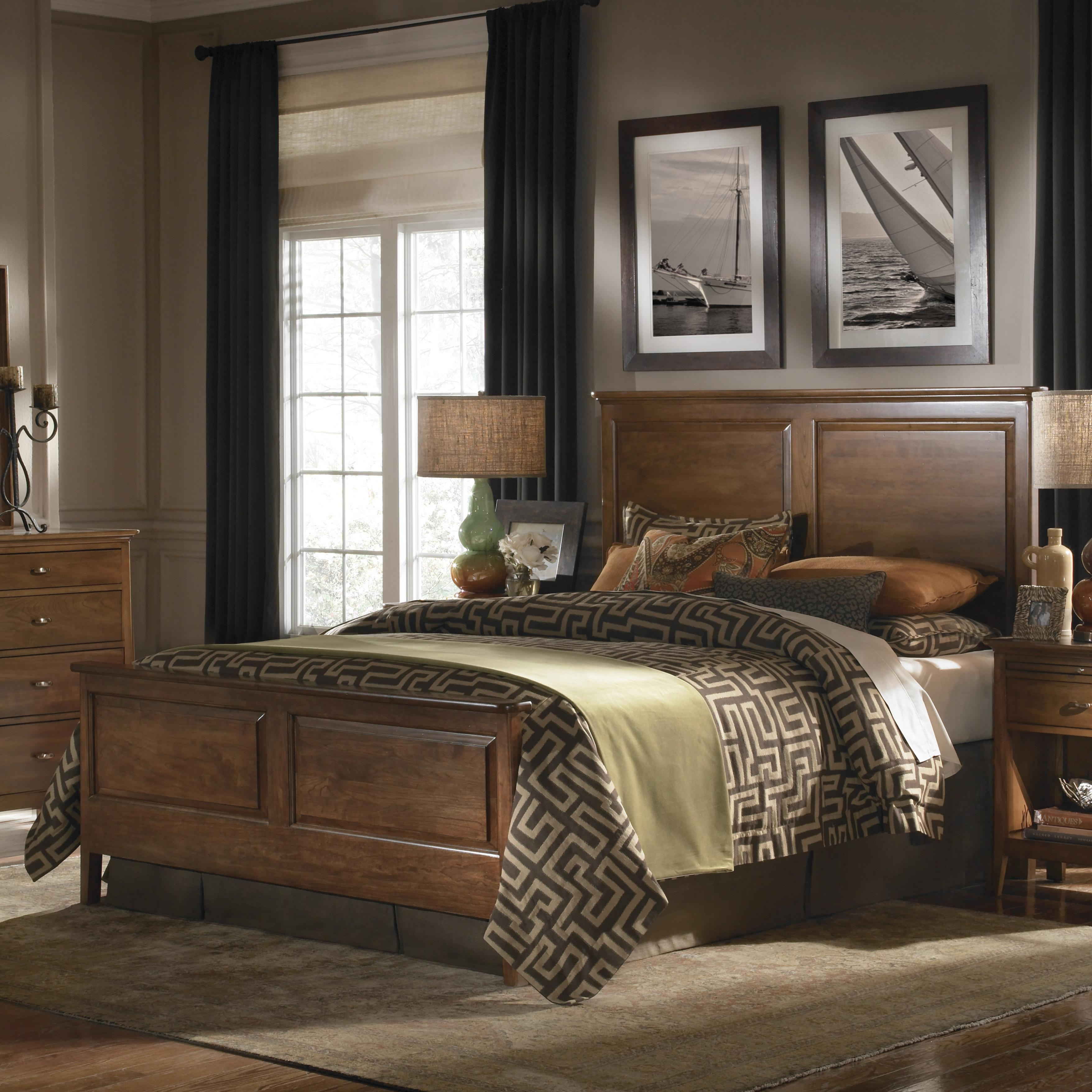 Cherry Park Queen Panel Bed by Kincaid Furniture at Johnny Janosik