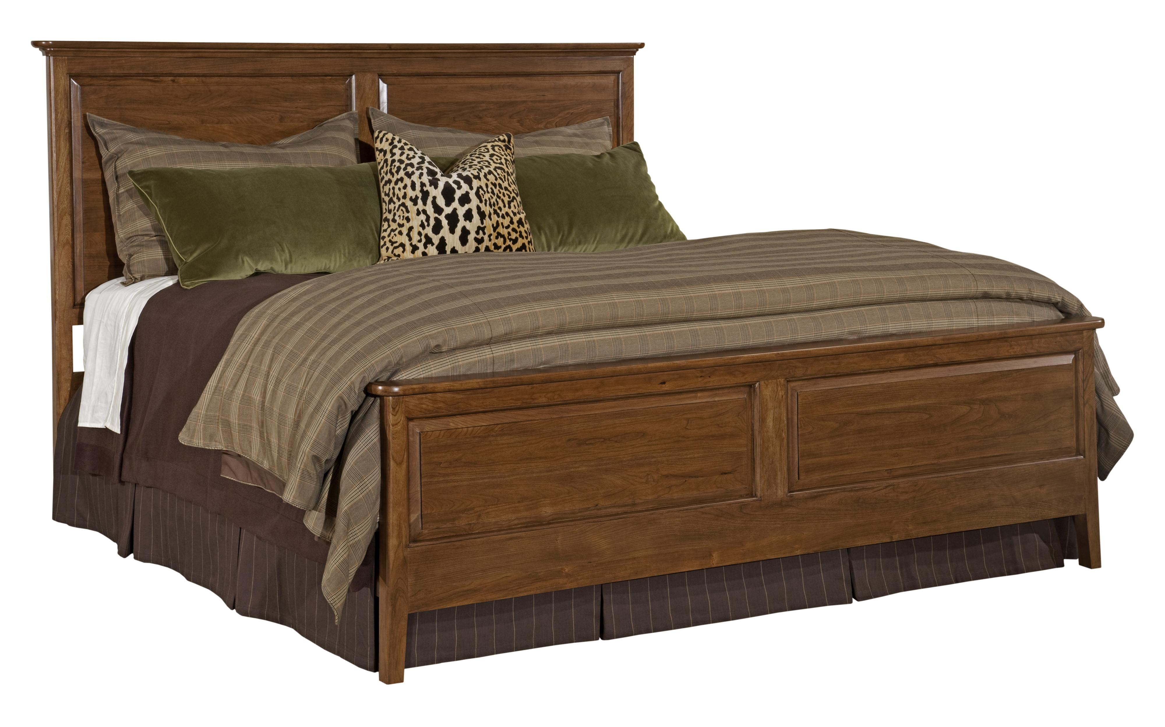 Cherry Park King Panel Bed by Kincaid Furniture at Northeast Factory Direct