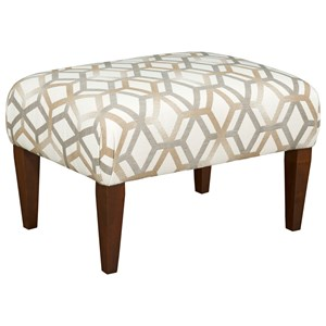 Small Cocktail Ottoman w/ Tapered Legs