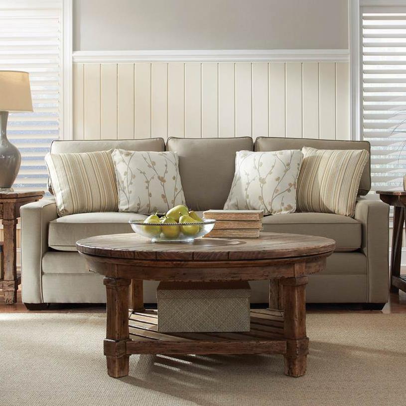Custom Select Upholstery 3-Seater Stationary Sofa by Kincaid Furniture at Johnny Janosik