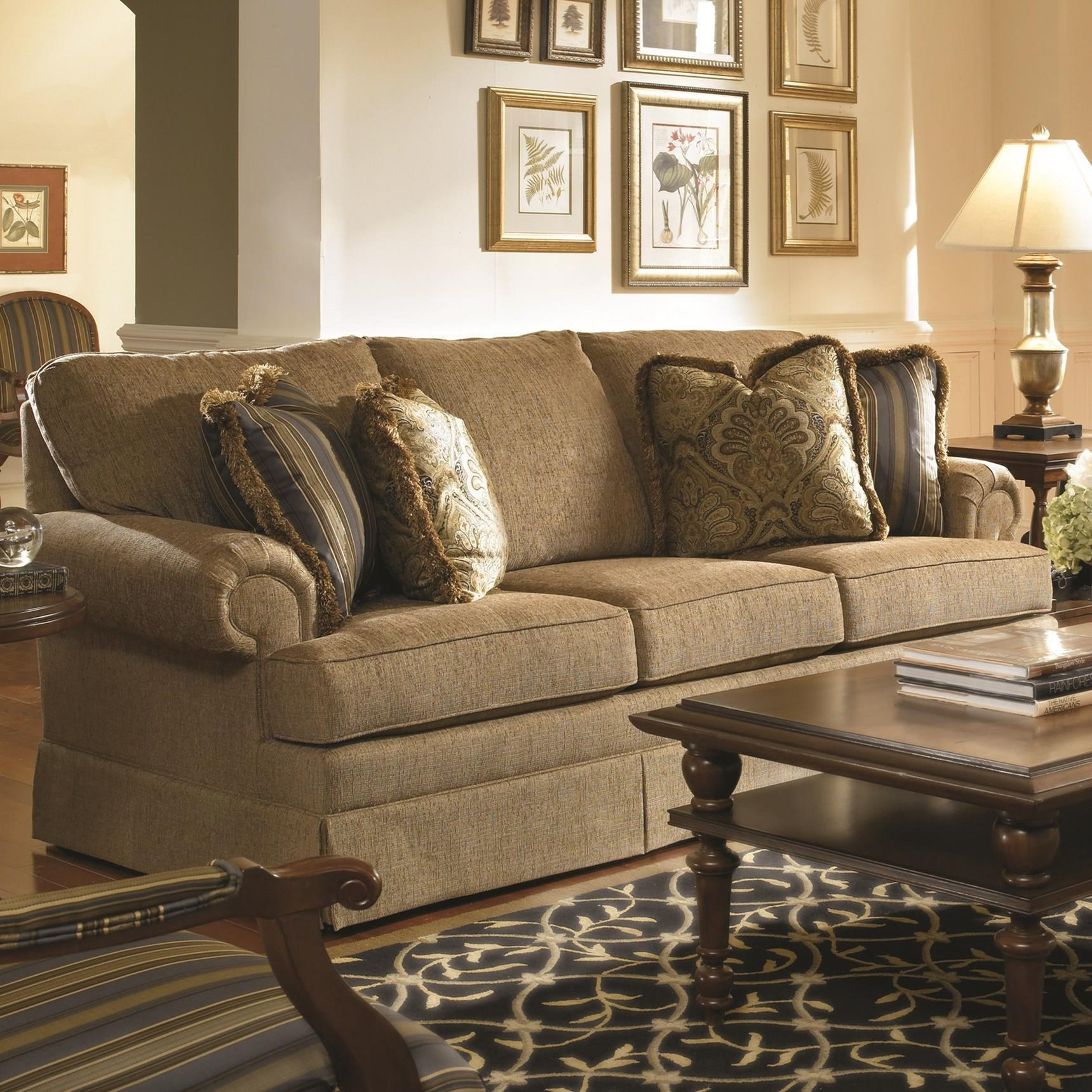 Custom Select Upholstery Small Sofa by Kincaid Furniture at Home Collections Furniture
