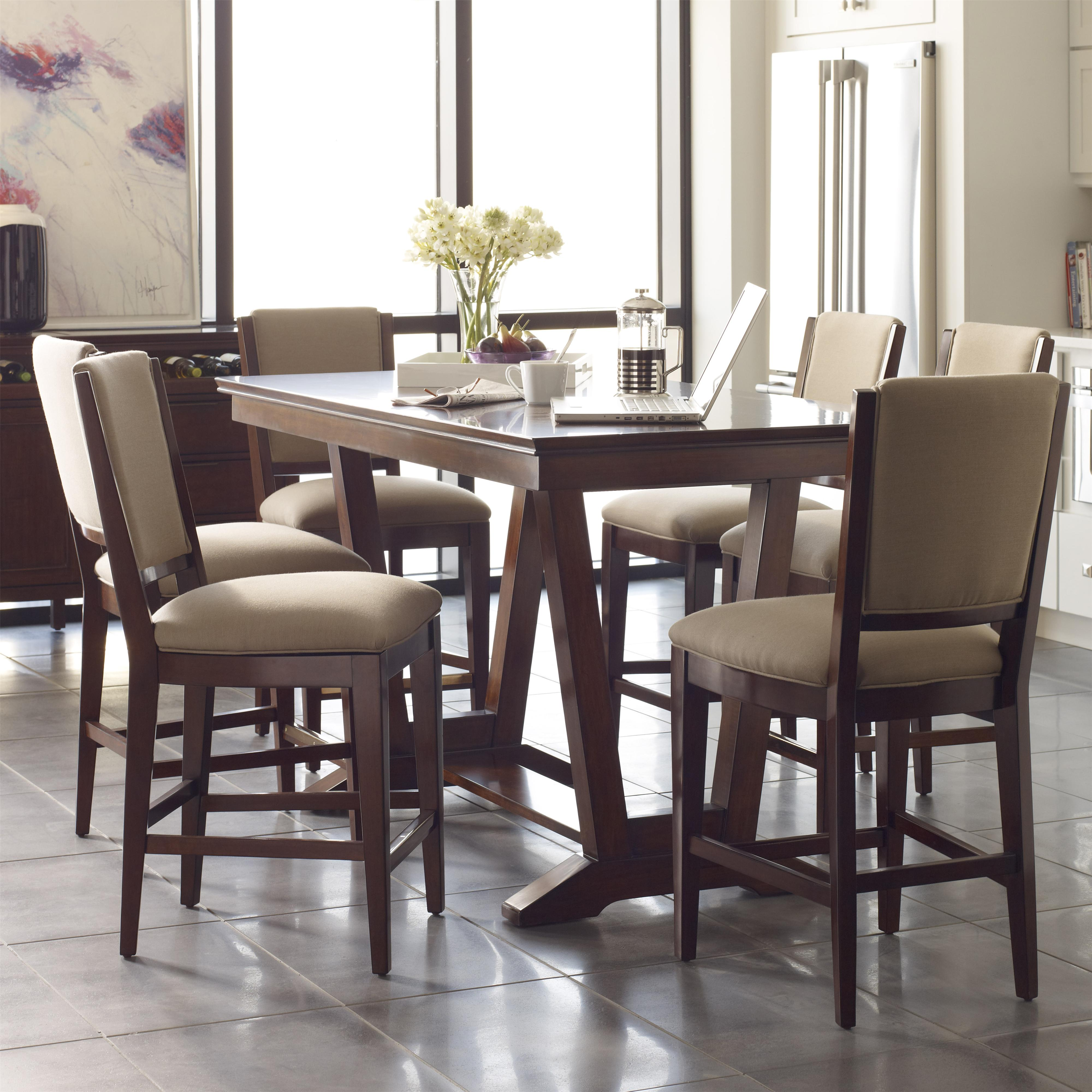 Elise 7 Pc Counter Height Dining Set by Kincaid Furniture at Northeast Factory Direct