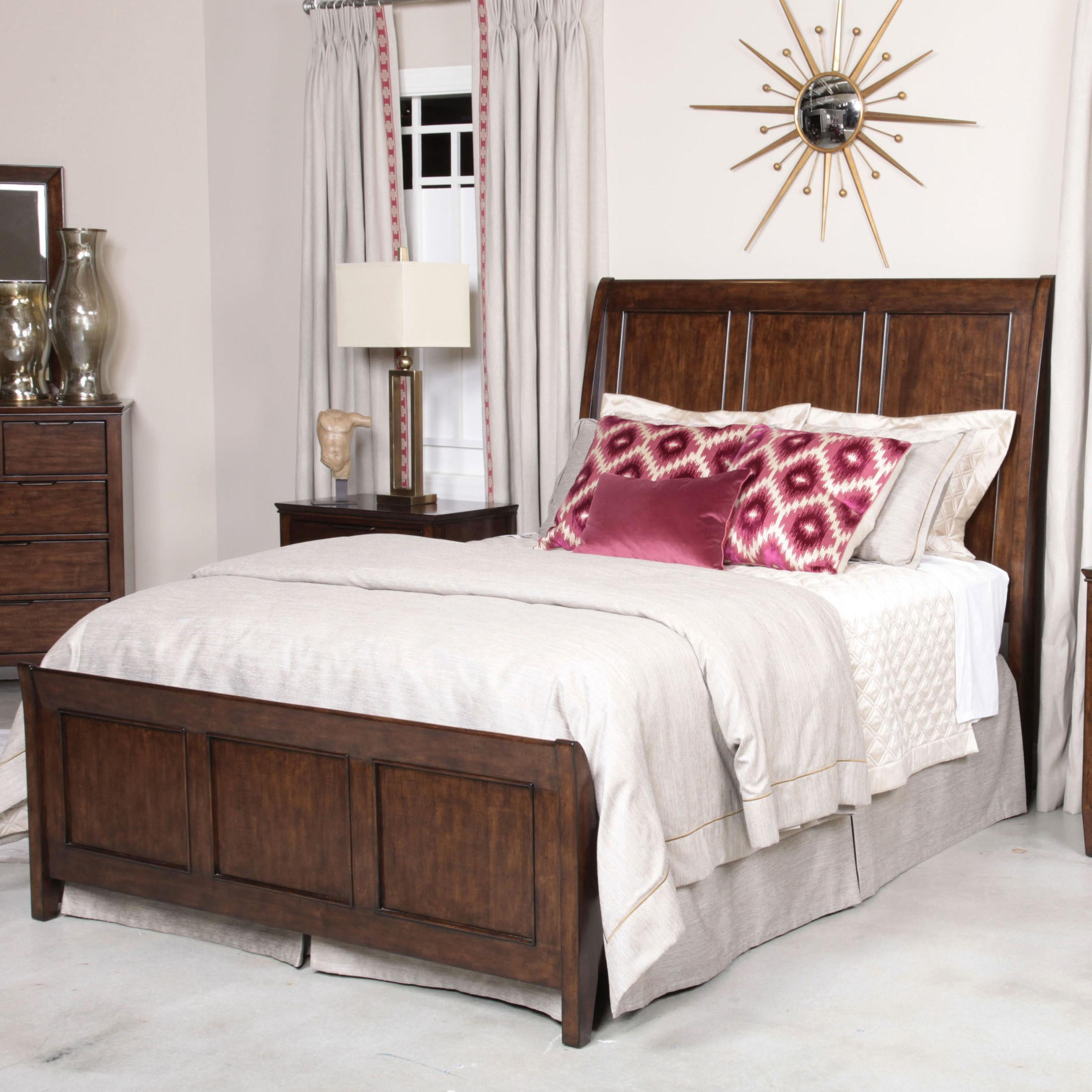 Elise Caris King Sleigh Bed by Kincaid Furniture at Home Collections Furniture
