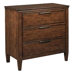 Transitional Bachelor's Chest with Electrical Outlet and Nightlight
