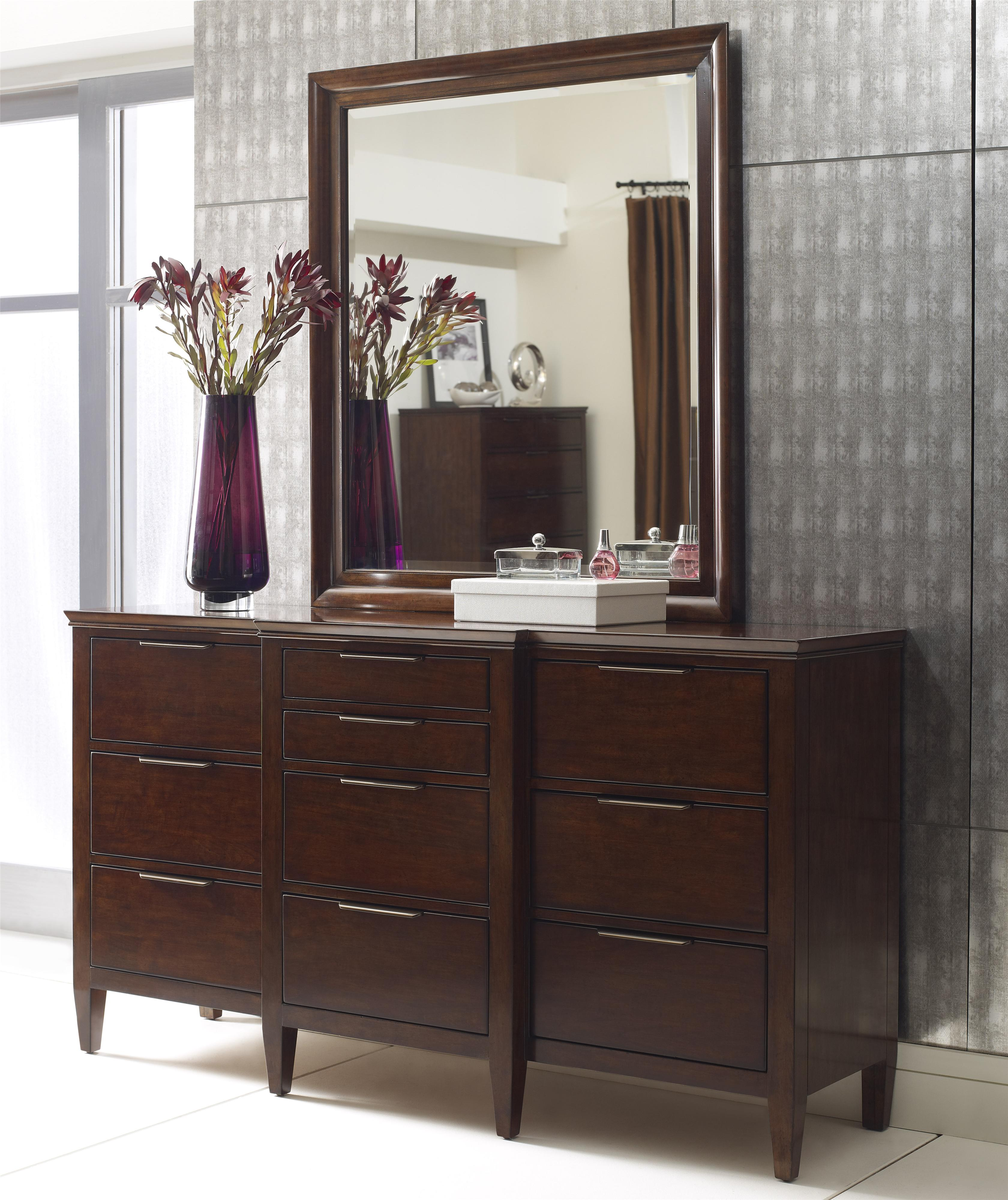 Elise Bristow Dresser and Mirror Set by Kincaid Furniture at Stuckey Furniture