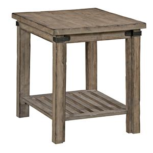 Rustic Weathered Gray End Table
